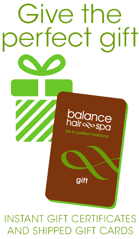 Purchase a Balance Hair Spa Gift Card or Gift Certificate online