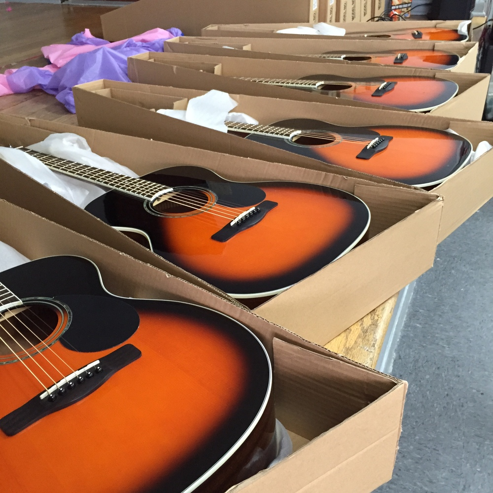 Greg Bennett acoustic guitars provided by generous support of community