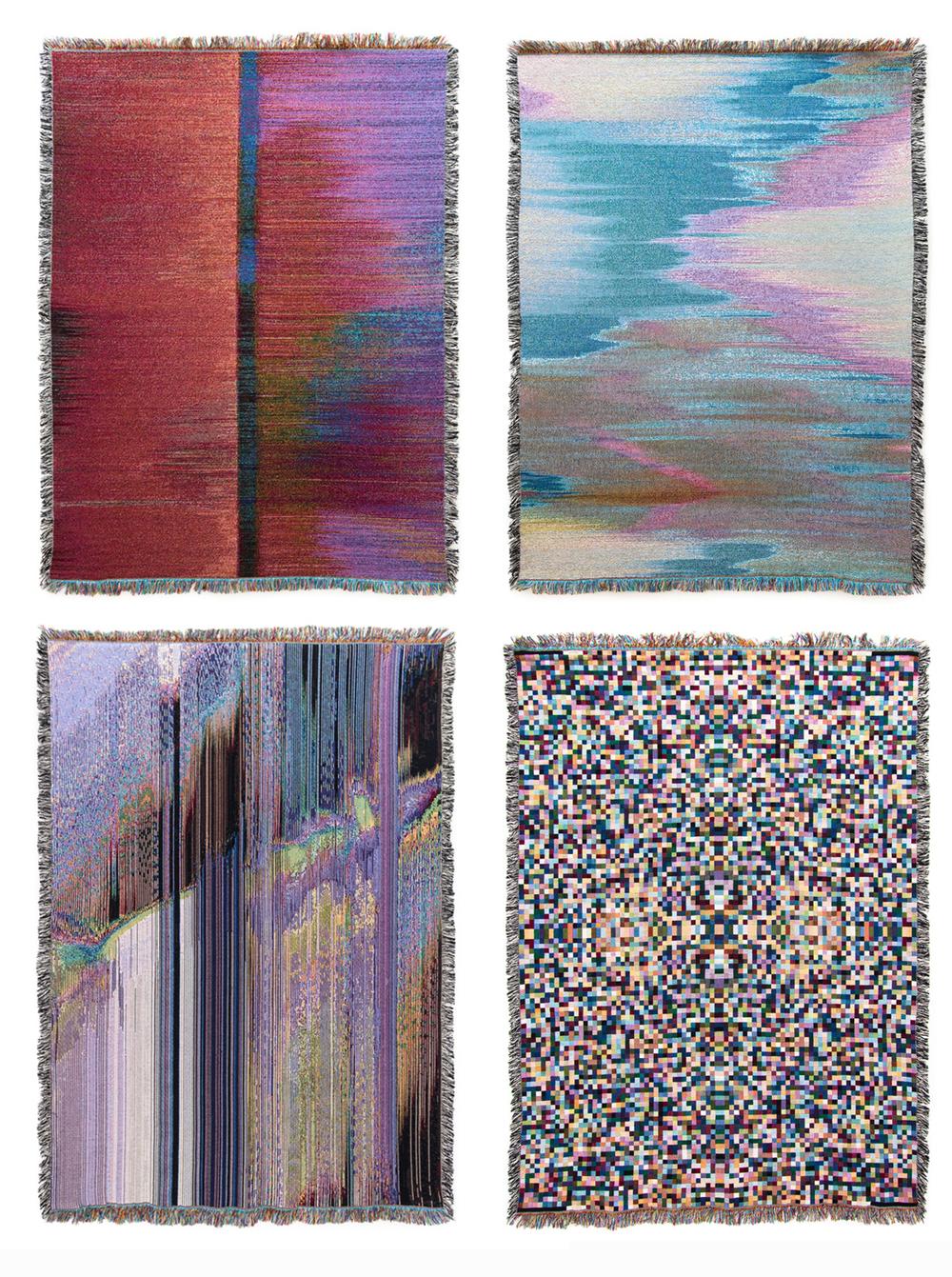 glitch textiles_jade purple brown
