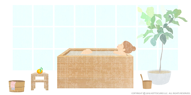 Japanese Hinoki bathtub.