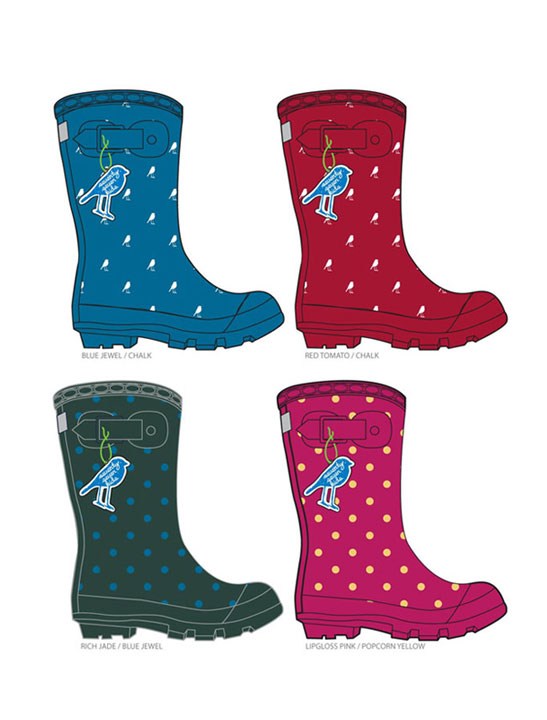 KIDS RAINBOOTS