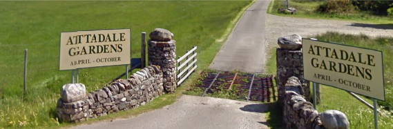 The entrance to Attadale Gardens and Attadale Holiday Cottages