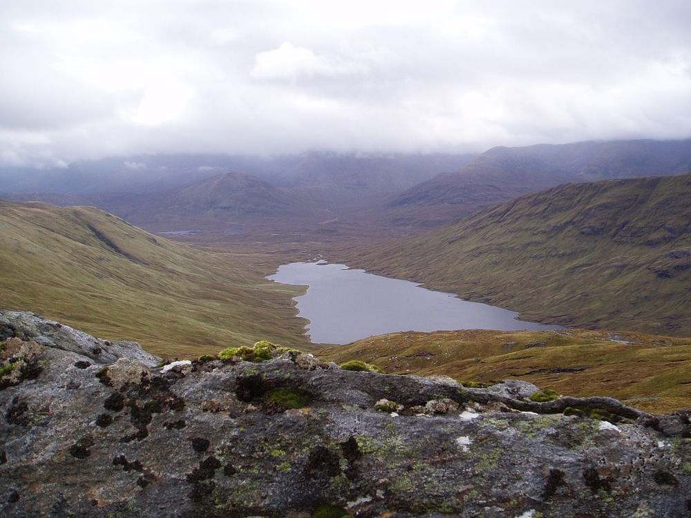 Hillsides with a number of fishing lochs