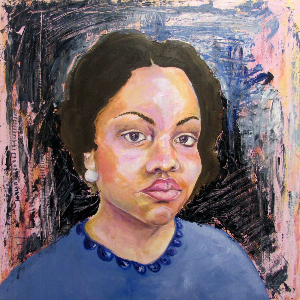 Much Lighter - Self Portrait | oil on canvas | 40 x 40 inches | 2014