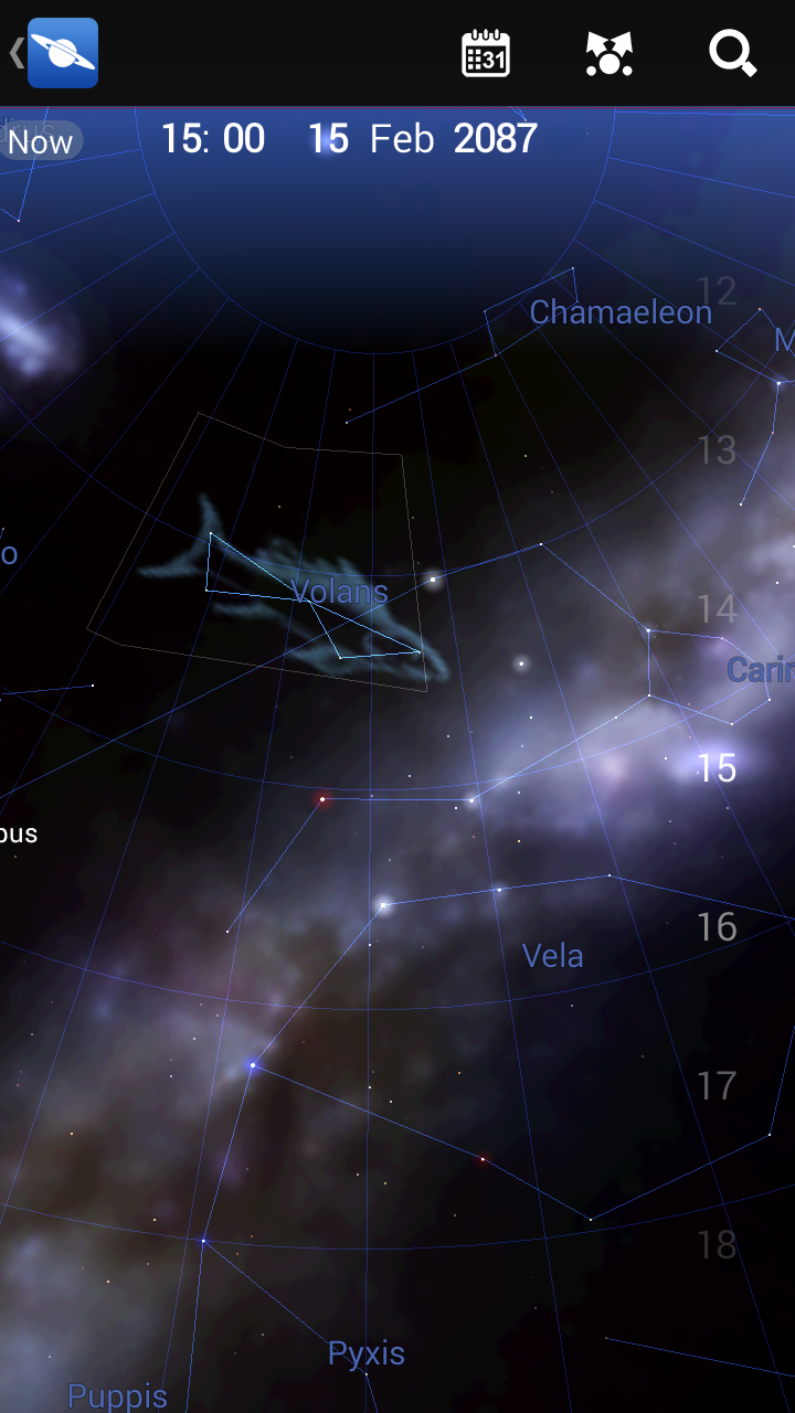 See where a certain night sky object will be in 2087.