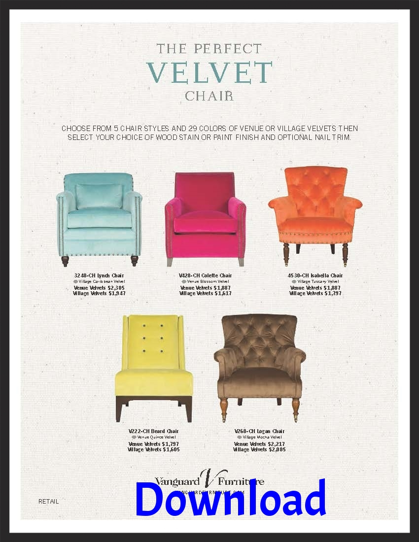 "Vanguard's ""Prefect Velvet Chair"""