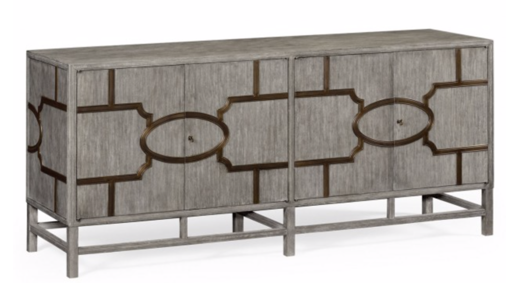 - A modern interpretation of a mid century buffet as resulted in the Hewlett. A pair of cupboards realised on an open stand will give an edge to a contemporary room.