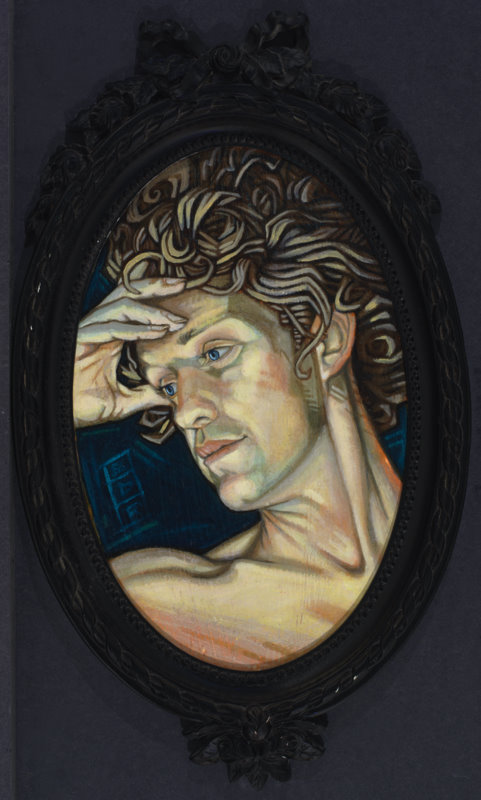 """Acrylic on canvas, Eddy del Rio, """"Pondering Alexander"""""""