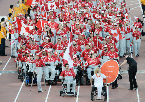 2015 Para Pan Am Canadian team marching into the Opening Ceremony