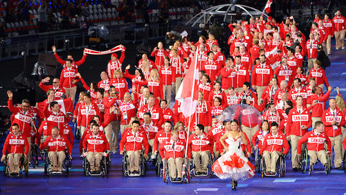 2012 Canadian Paralympic Team marching into the Opening Ceremony