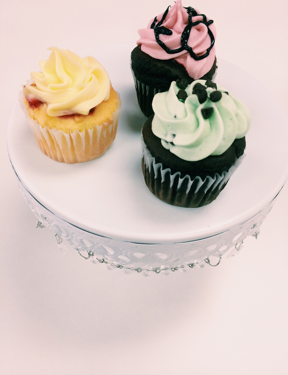 Lemon Creme, Raspberry Chocolate Fudge, and Mint Chocolate Chip