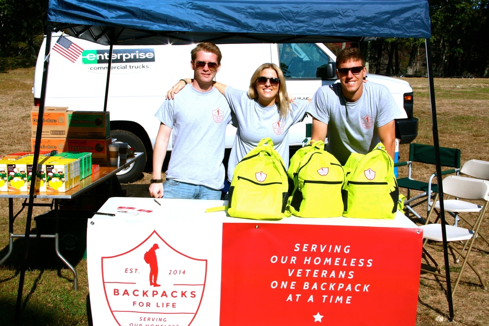 Founder Brett D'Alessandro and Co-Founders   Alexa Modero and Kevin Clarke at Stand Down Weekend in Rhode Island.
