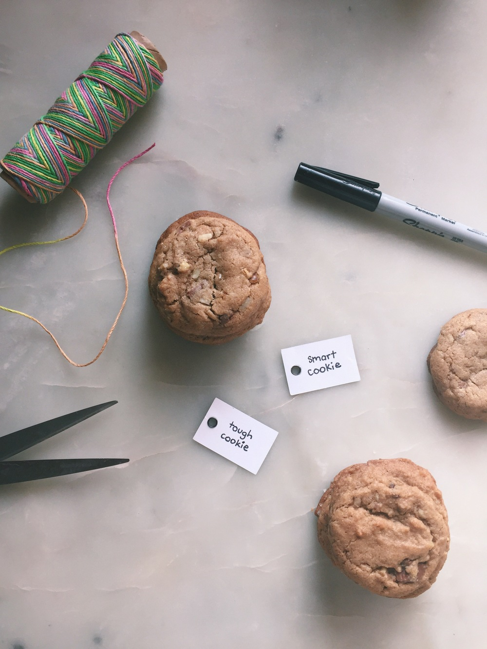 Elevate dessert presentation by offering up a label that matches your guests' personalities. All you need are labels, a sharpie and a little twine.