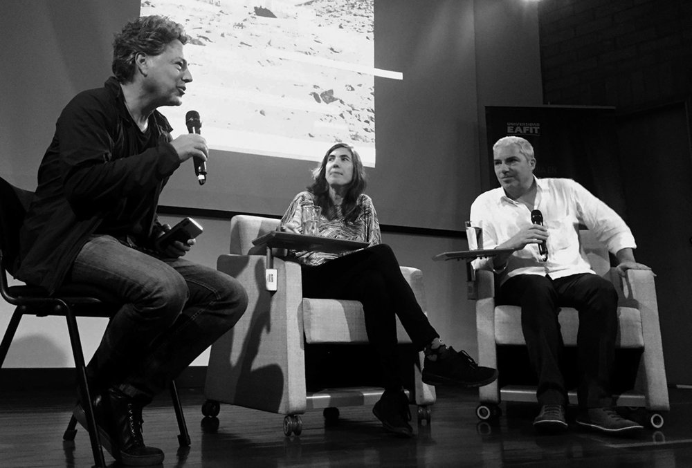 Sandra and Jean Pierre in conversation with Alejandro Echeverri