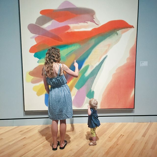 Thinking back to our time as a family at the art museum. I've been inspired this year to be intentional about getting in front of fine art as often as possible. I loved watching Millie take in what she saw! It has inspired me so much. We've been making our own little modern art pieces together since seeing this one! Can't wait to go again!!!