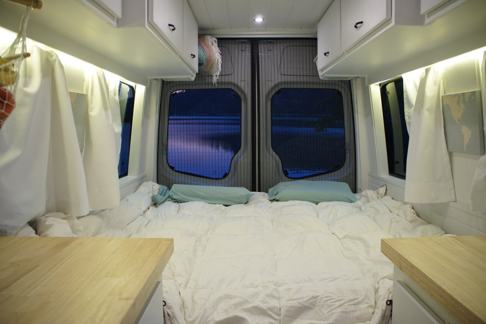 40 hours of freedom bed conversion sprinter van