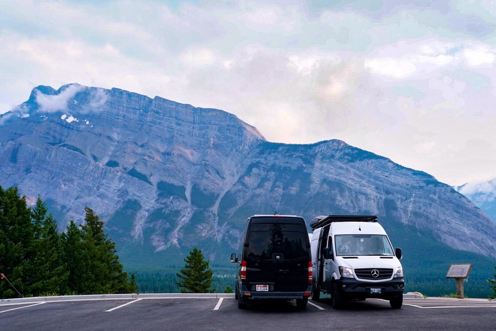 40 hours of freedom banff canada sprinter van conversion sprinter camper van