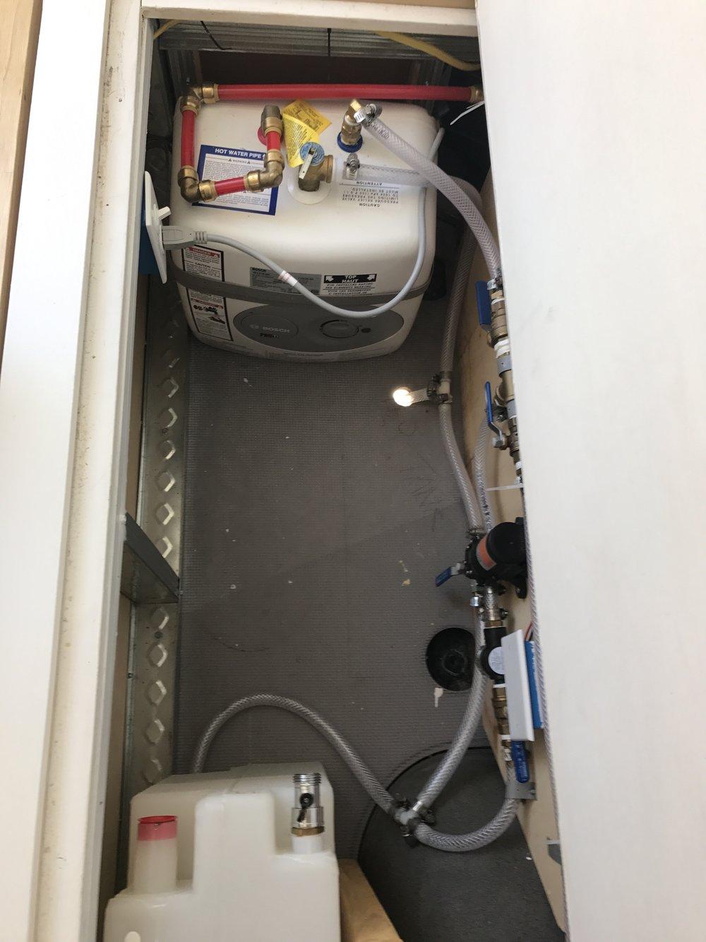 sprinter van diy conversion shower plumbing