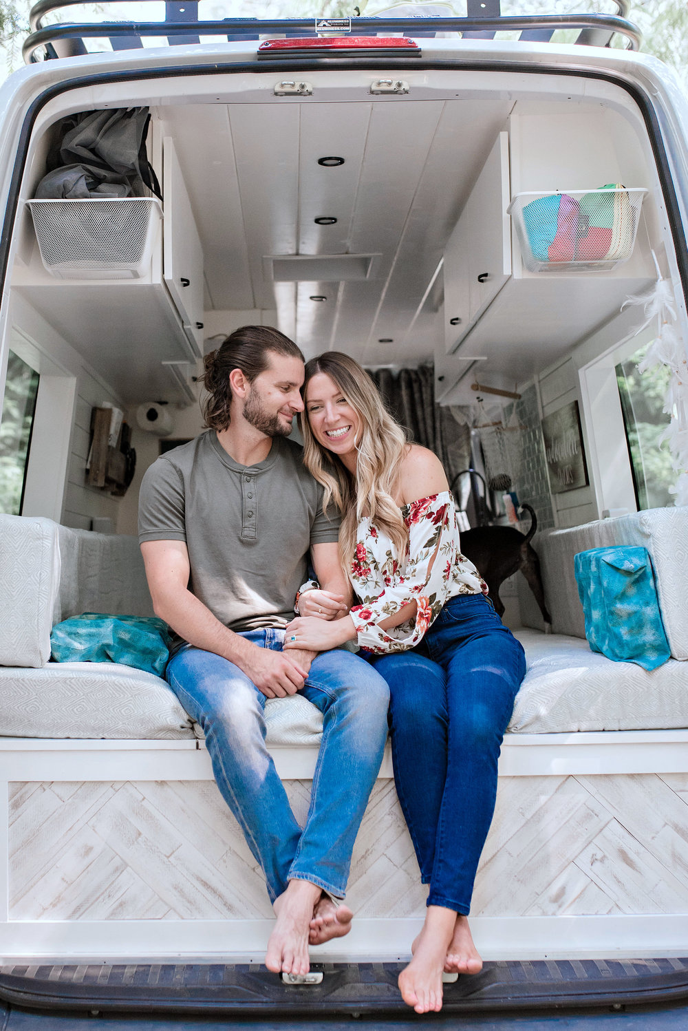 Hi, We're Sara & Alex!  We've been living van life for the last 1.5 years, and recently took a break from our travels to start van conversions in San Diego. We love sharing and creating content about van life, working remotely and designing a functional, beautiful home in small spaces.