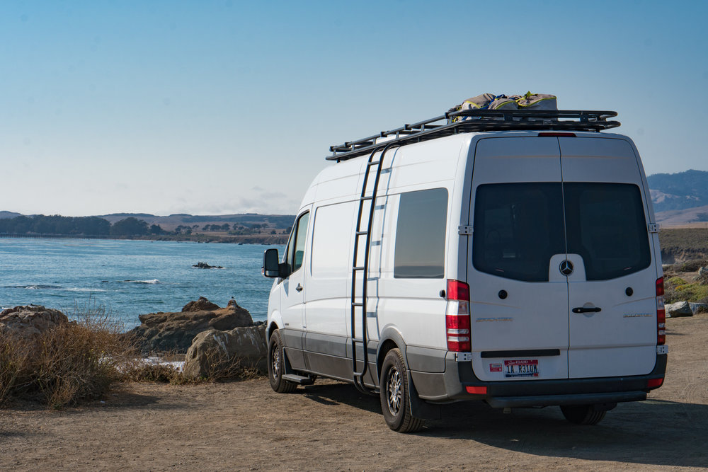 40 hours of freedom sprinter van conversion san simeon designing layout