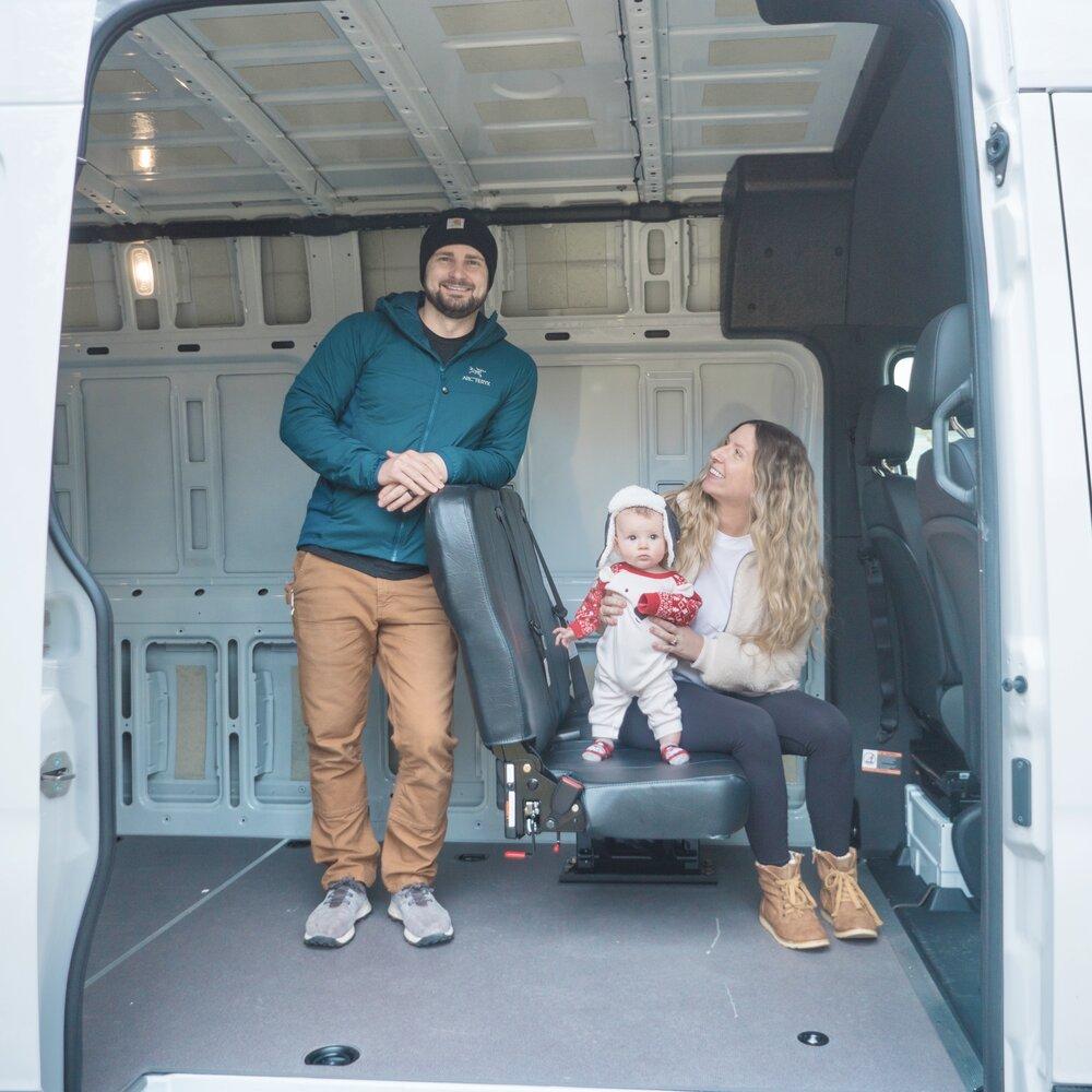 Installing A Foldaway Bench Seat In A 2019 Mercedes Sprinter Camper Van Sara Alex James 40 Hours Of Freedom