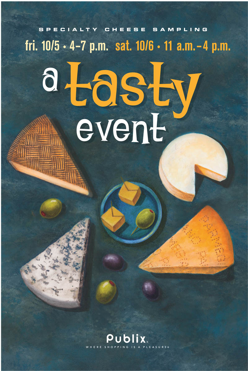 SPECIALTY CHEESE NO WINE POSTER