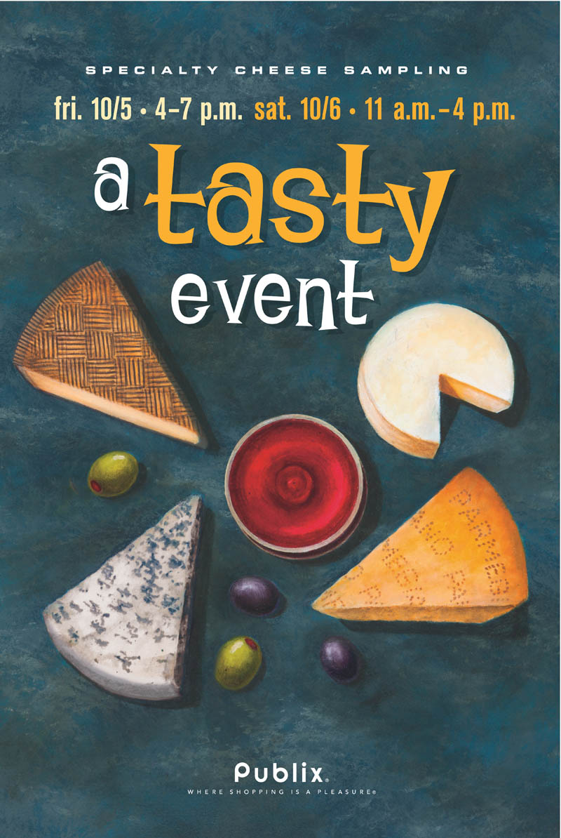 SPECIALTY CHEESE WINE POSTER