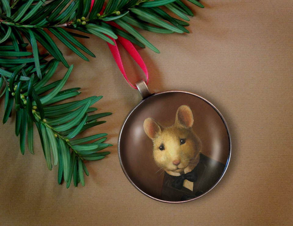 Victorian Mouse Ornament-Curious Portraits