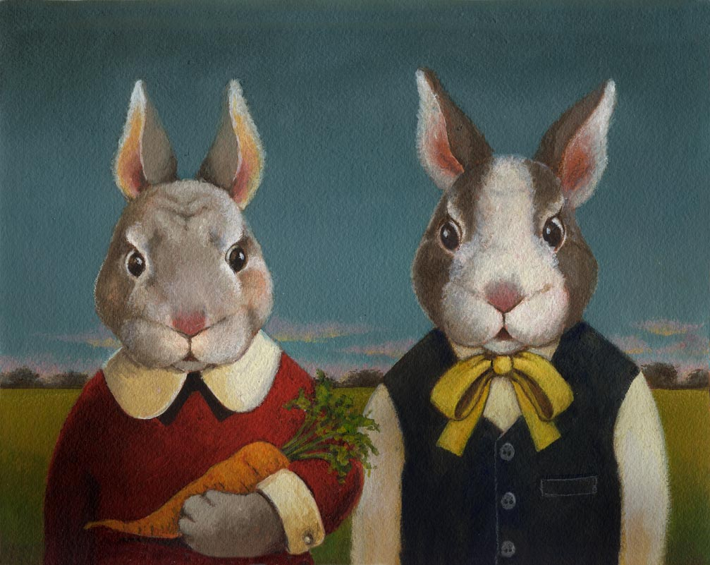 Rabbit Couple-Lisa Zador