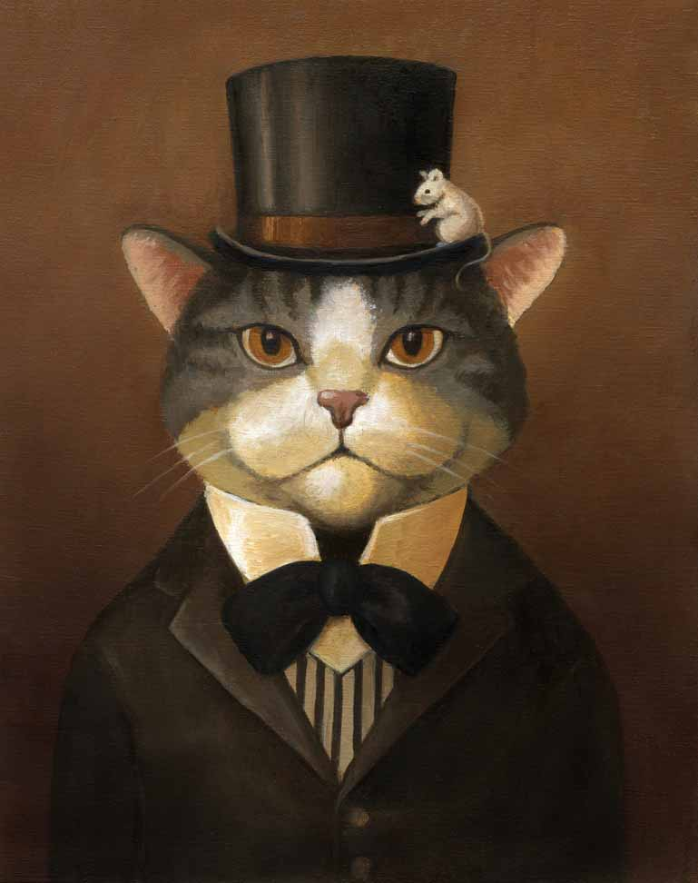 Victorian Cat Portrait