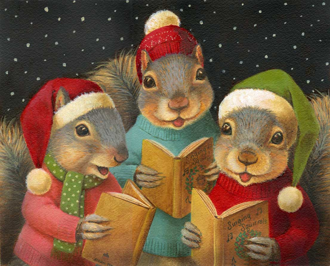 Singing-Christma-Squirrels