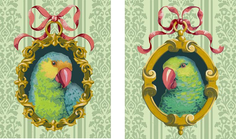 parrot-portraits