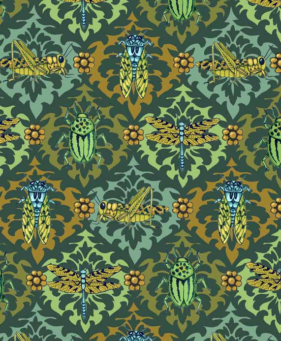 Insect Damask