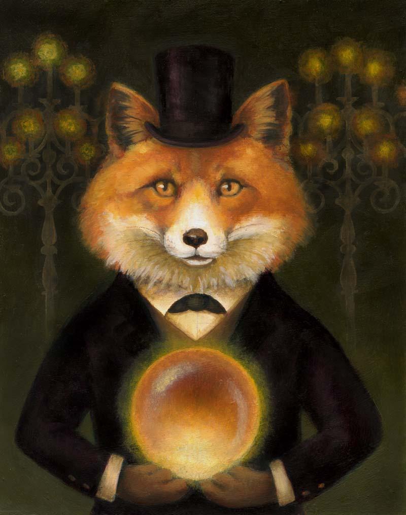 Spiritualist Fox Portrait-Lisa Zador