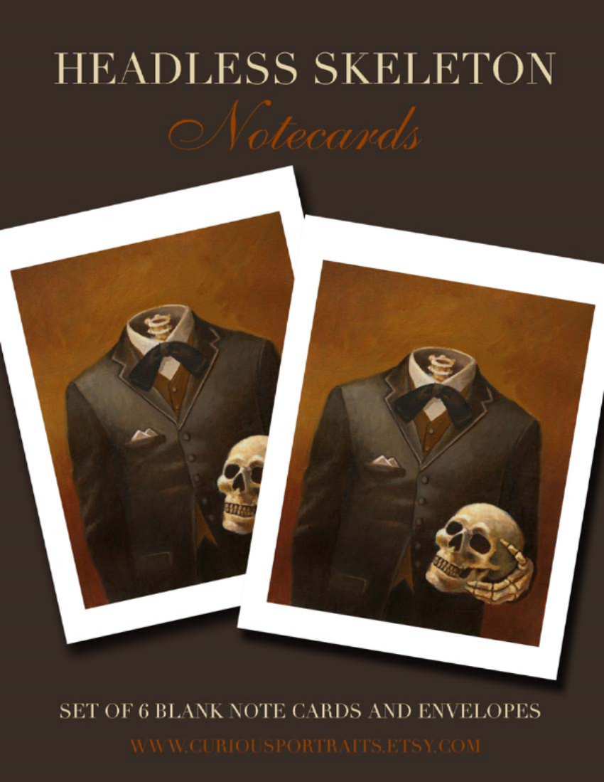 Lisa Zador-Headless Skeleton Note Cards
