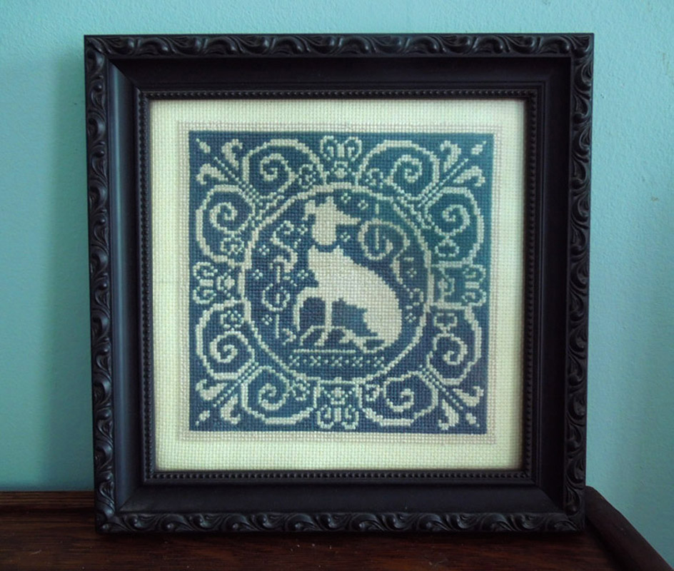 Blue Dog Crosstitch - Lisa Zador