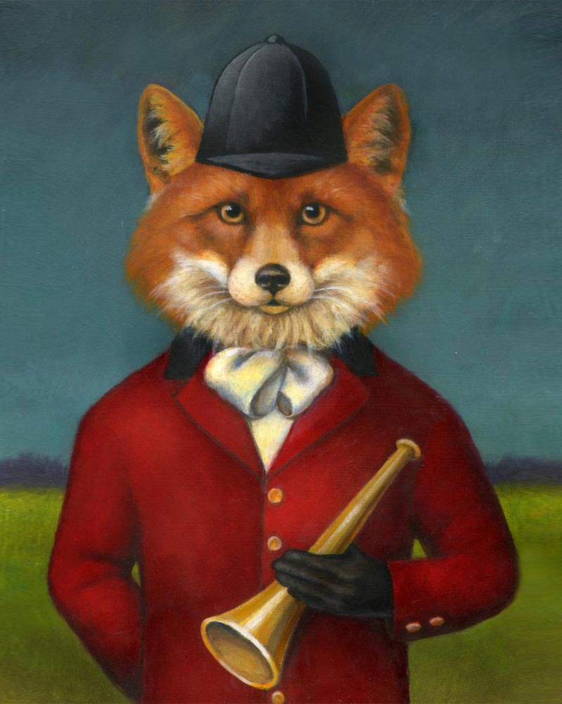 Fox Hunt Portrait by Lisa Zador