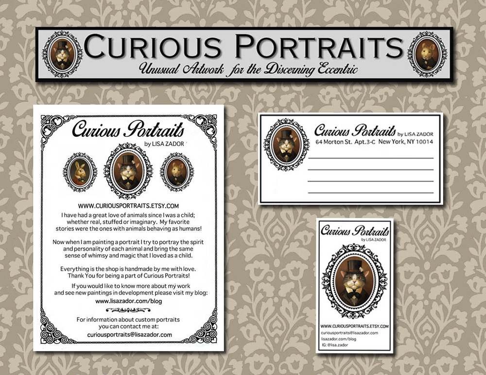 Curious Portraits on Etsy by Lisa Zador