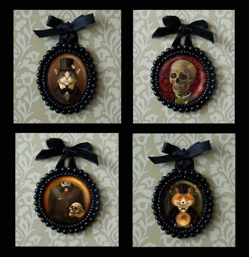 Any image in the shop can be customized into a beaded Portrait Miniature.