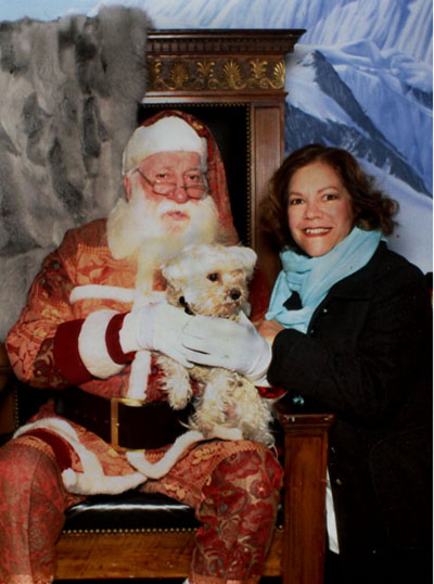 Bingo and Myself with the Bergdorf Goodman Santa