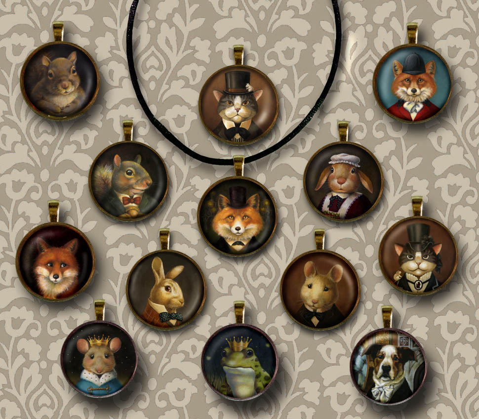 New Victorian Animal Necklaces.