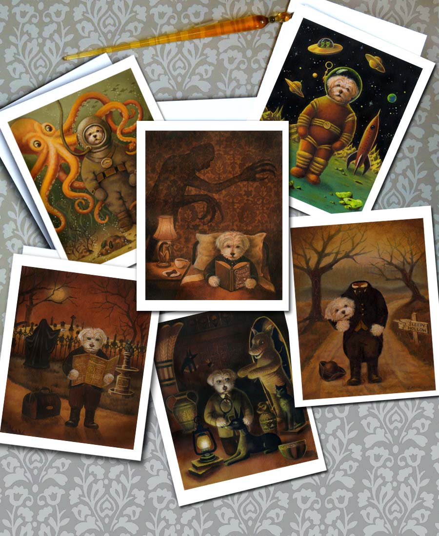 New Dog Adventurer Notecards just in time for Halloween.