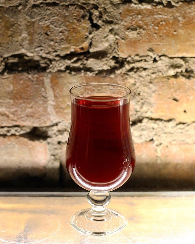 Our neighbors @dovetailbrewery made the first Chicago lambic using 2,300 lbs of sour balaton cherries and wild yeast from the air you're breathing right now! Tart, refreshing, jammy, earthy, funky, vanilla, almond, tannic.
