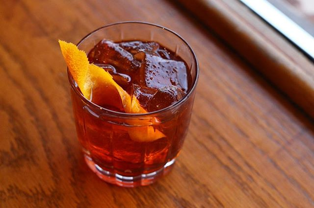 Aaaand we're back! Our doors will be open at 4:30 p.m. and we have plenty Winter Rum Negroni's to go around. @letherbee gin, @thisisstolen smoked rum, @campariofficial, sweet vermouth, and cold brew. We missed you, come drink with us!
