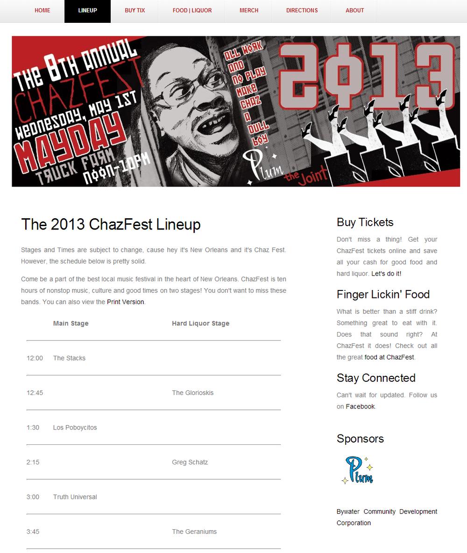 2013 ChazFestival Website - SEO, Web Development, Mobile and Analytics