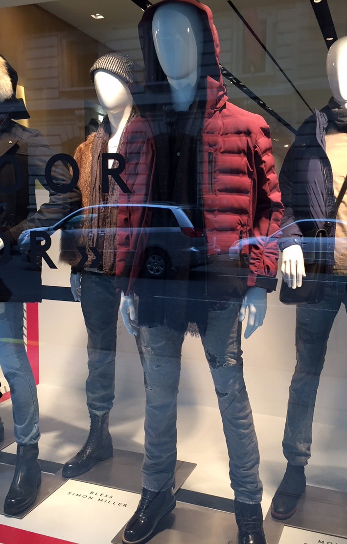 Our first window Barneys Madison Avenue.