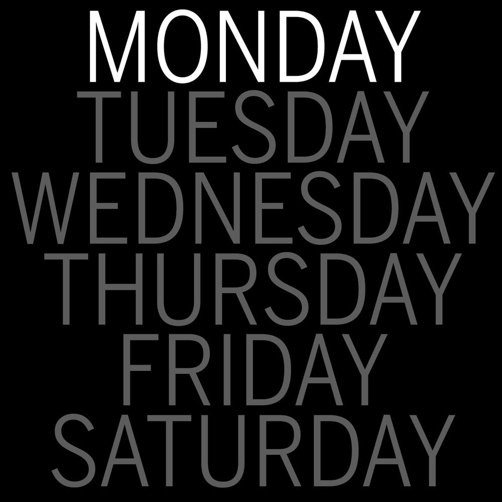 LSPA Monday Schedule