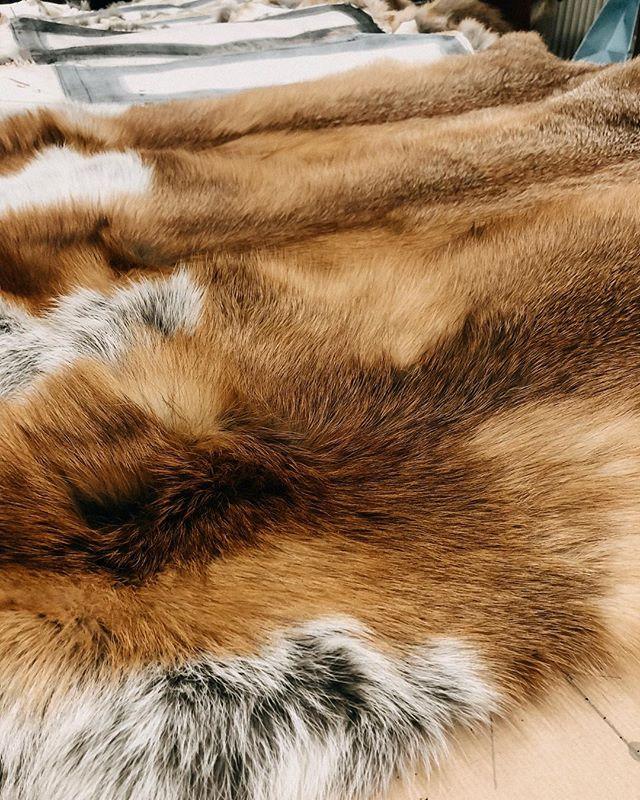 New things in the making 💪🏻 Nächste Woche startet die @jagdundhund, auf der alljährlich der #redfoxaward vergeben wird. Ein Preis für besonders schöne Unikate aus nachhaltigen Fellen aus deutscher Jagd 👌🏻 seid auf unsere Teile gespannt! 🤗😊
