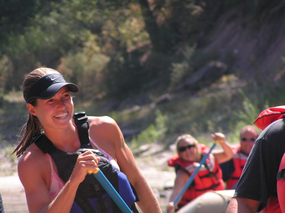 Brooke Lawrence, the happiest guide on the river sharing her passion for sun, fun and friends!