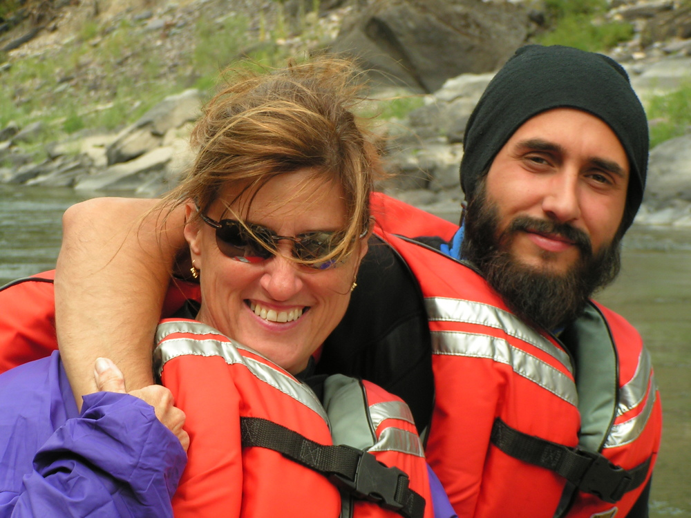 Patty and Stephen Lawrence enjoy a private upgrade on the Clark Fork River, Alberton Gorge!
